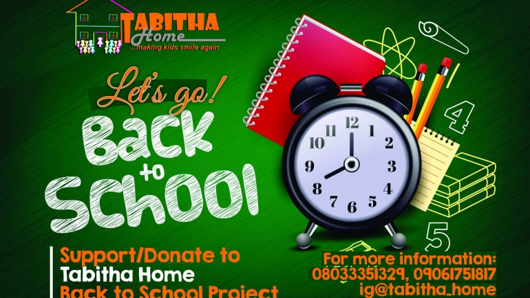 Support/ Donate to Tabitha Home Back School Project