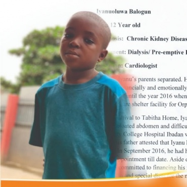 Save Iyanu – with lifesaving kidney transplant
